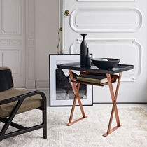 Side table / contemporary / copper / rectangular