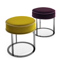 Leather stool / fabric / by Antonio Citterio / black