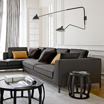 Modular sofa / traditional / leather / by Antonio Citterio