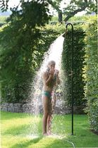 Galvanized iron garden shower