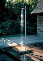 Galvanized steel garden shower