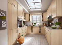 Contemporary kitchen / solid wood / wooden