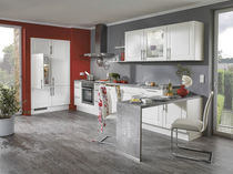 Contemporary kitchen / marble / lacquered