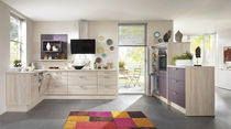 Contemporary kitchen / solid wood / wood veneer / wooden