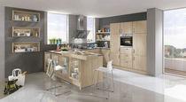 Contemporary kitchen / solid wood / wood veneer / wooden