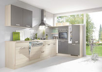 Contemporary kitchen / wood veneer