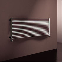 Hot water towel radiator / metal / contemporary / horizontal