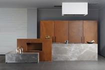 Stone kitchen / metal / island