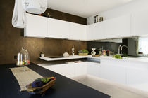 Contemporary kitchen / lacquered wood / Corian® / U-shaped