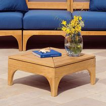 Contemporary coffee table / teak / square / rectangular