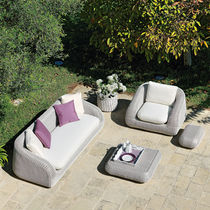 Contemporary sofa / garden / resin wicker / 3-seater