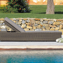 Contemporary sun lounger / synthetic fiber / garden / adjustable backrest