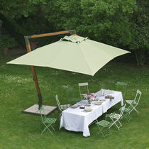 Offset patio umbrella / polyester / canvas / wooden