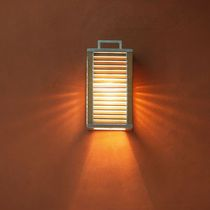 Contemporary wall light / garden / teak / aluminum