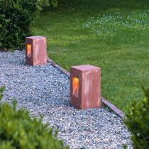 Garden bollard light / contemporary / ceramic / IP44