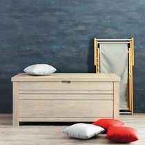 Contemporary chest / garden / teak / cushion