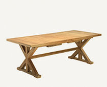 Contemporary table / teak / rectangular / square
