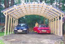 PVC carport / wooden