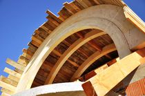 Glue-laminated wood beam / rectangular / arched / dormer