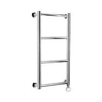 Metal towel warmer / retro / vertical / wall-mounted
