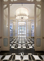 Marble flooring / commercial / tile / textured