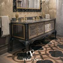 Solid parquet flooring / Cornish oak / oiled / marble inlaid