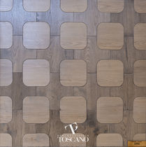 Engineered parquet flooring / glued / oak / natural oil