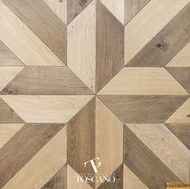 Engineered parquet flooring / glued / oak / natural oil finish