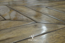 Engineered parquet flooring / glued / oiled / waxed