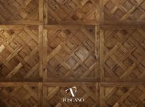 Engineered parquet flooring / glued / oak / oiled