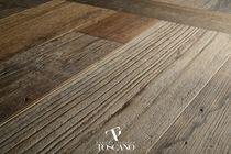 Engineered parquet flooring / teak / matte
