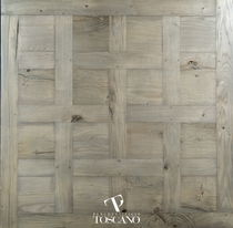 Engineered parquet flooring / glued / oak / aged