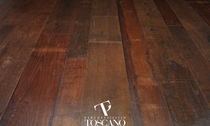 Engineered parquet flooring / glued / teak / oiled