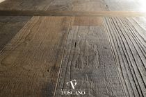 Engineered parquet flooring / glued / teak / matte