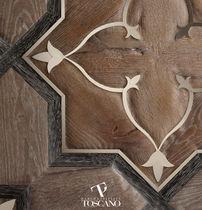 Solid wood flooring / oak / wenge / waxed