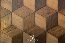 Solid parquet flooring / glued / aged