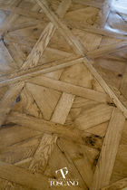Solid parquet flooring / glued / oiled / wood inlaid