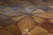 Solid parquet flooring / glued / waxed