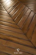 Engineered parquet flooring / glued / cherrywood / oiled
