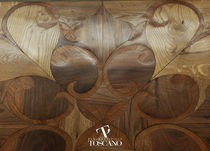 Engineered parquet flooring / glued / wood inlaid