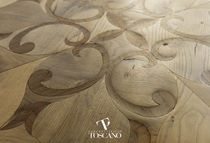 Solid parquet flooring / oiled / wood inlaid