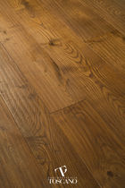 Engineered parquet flooring / glued / chestnut / oiled