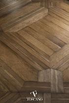 Solid parquet flooring / walnut / oak / oiled