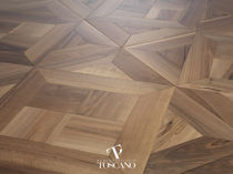 Solid parquet flooring / glued / walnut / oiled