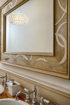 Wall-mounted mirror / contemporary / rectangular / oak