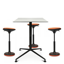Plastic task stool / leather / fabric / swivel