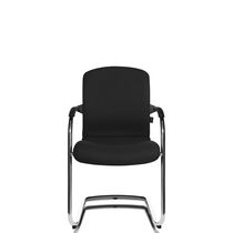 Contemporary visitor chair / stackable / cantilever / with armrests