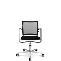 Contemporary office chair / on casters / with armrests / upholstered
