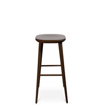 Contemporary bar stool / wooden / commercial / with footrest