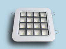 Recessed downlight / LED / square / plastic